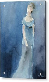Jane Austen Watercolor Painting Art Print Acrylic Print by Beverly Brown