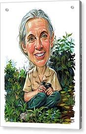 Jane Goodall Acrylic Print by Art