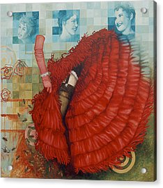 Jane Of The Waking Universe Acrylic Print by Sandra Cohen
