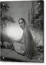 Janet Newbold Wearing A Sari Acrylic Print