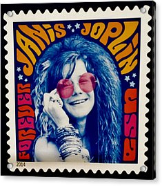 Janis Stamp In A Groovy Vibe Acrylic Print