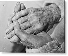 Jan's Hands Acrylic Print