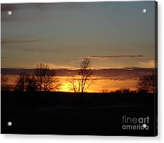 January 13th Sunset Acrylic Print by J L Zarek