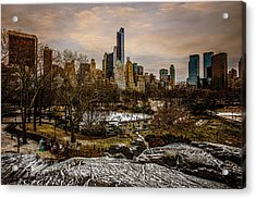 January At Central Park South Acrylic Print by Chris Lord