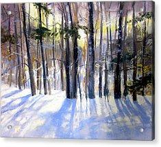 January Blues Acrylic Print by Jeanne Rosier Smith