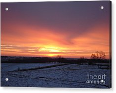 January Sunrise Acrylic Print by J L Zarek