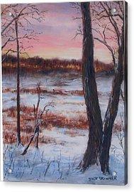January Sunrise Acrylic Print by Jack Skinner