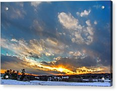January Sunset Acrylic Print