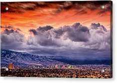 January Sunset Over Reno Acrylic Print