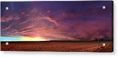 January Sunset With Cold Front Acrylic Print