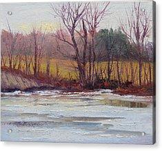 January Thaw Acrylic Print by Judy Fischer Walton