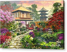 Japan Garden Acrylic Print by Dominic Davison