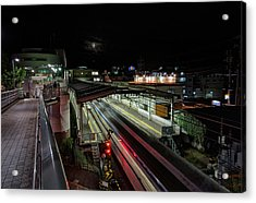 Japan Train Night Acrylic Print