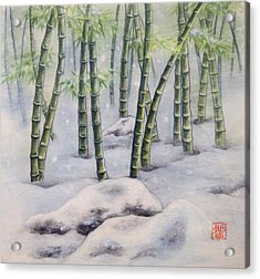 Japanese Bamboos Acrylic Print by Tomoko Koyama