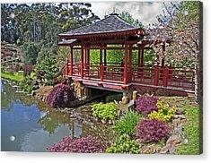 Japanese Bridge At Emu Valley Acrylic Print by Tony Crehan