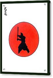 Japanese Bushido Way Of The Warrior Acrylic Print by Gordon Lavender