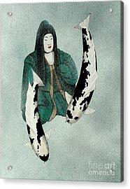 Japanese Empress Shinko Utsuri Mono Painting Acrylic Print by Gordon Lavender