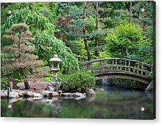 Japanese Garden Acrylic Print by Adam Romanowicz