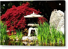 Acrylic Print featuring the photograph Japanese Garden by Angela DeFrias