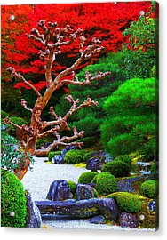Acrylic Print featuring the photograph Japanese Garden by Julia Ivanovna Willhite