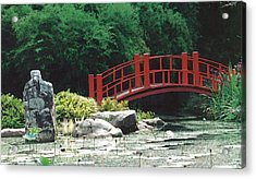 Japanese Garden Acrylic Print by Mary Bedy