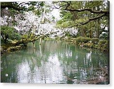 Japanese Garden  Acrylic Print by Moshe Torgovitsky