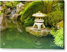 Japanese Garden Acrylic Print by Nur Roy