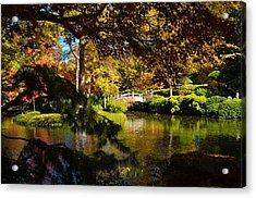 Acrylic Print featuring the photograph Japanese Gardens 9561 by Ricardo J Ruiz de Porras