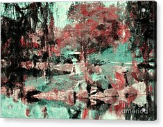 Japanese Garden's Acrylic Print by Kathleen Struckle