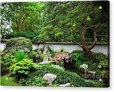 Japanese Gardens Acrylic Print by Lisa L Silva