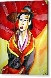 Japanese Geisha Acrylic Print by Sacha Grossel
