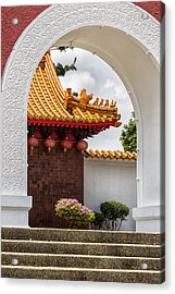 Japanese House Through An Arch Acrylic Print