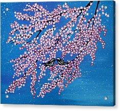 Japanese Joy Acrylic Print by Cathy Jacobs