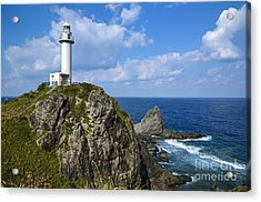 Japanese Lighthouse At Uganzaki Acrylic Print