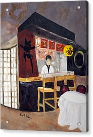Acrylic Print featuring the painting Japanese Restaurant by Aleezah Selinger