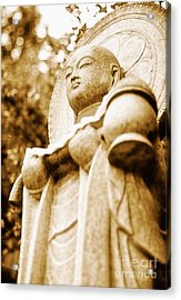 Japanese Statue - Jizo - Guardian Of Children In Japan Acrylic Print