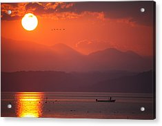Acrylic Print featuring the photograph Japanese Sunset by Brad Brizek
