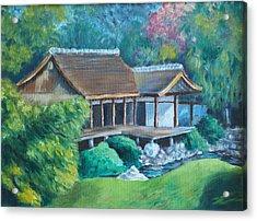 Japanese Tea House Acrylic Print by Joseph Levine