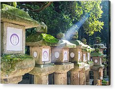 Japanese Toro Lantern For The Dead Found In Nara Japan Acrylic Print by Laura Palmer