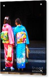 Japanese Women Wearing Beautiful Kimono Acrylic Print
