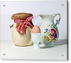 Jar And Egg Acrylic Print by Cecil Fuselier