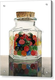 Acrylic Print featuring the painting Jar Of Jelly Bellies by Ferrel Cordle