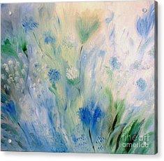 Jardin Bleu Acrylic Print by Julie Brugh Riffey