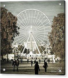 Jardin Des Tuileries Park Paris France Europe  Acrylic Print by Jon Boyes