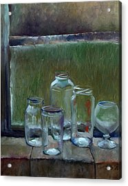 Jars On Summer Windowsil Acrylic Print