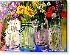Jars Three Acrylic Print by Esther Woods
