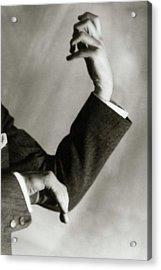 Jascha Heifetz' Hands Acrylic Print by Francis Bruguiere