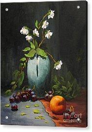 Jasmine And Peach Acrylic Print by Carol Hart