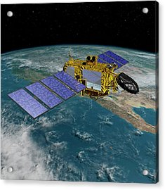 Jason-3 Satellite Acrylic Print by Nasa