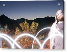 Jason And Desert Lights I Acrylic Print